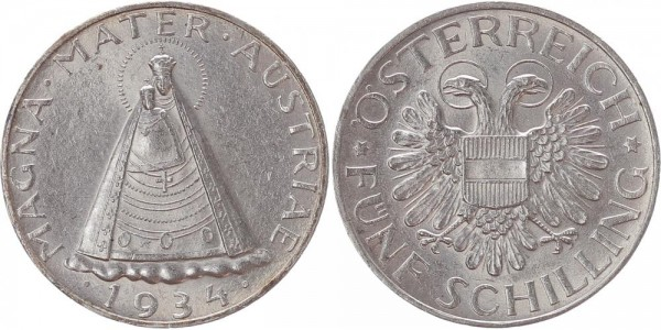 Österreich 5 Schilling 1934 - Magna Mater