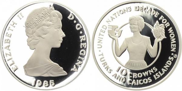 Turks und Caicos Inseln 10 Crowns 1985 - Jahrzehnt der Frau