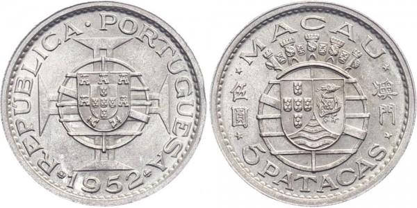 Macau 5 Patacas 1952 - Kursmünze