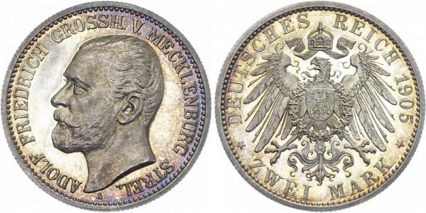 MECKLENBURG-STRELITZ 2 Mark 1905 A Adolf Friedrich V.