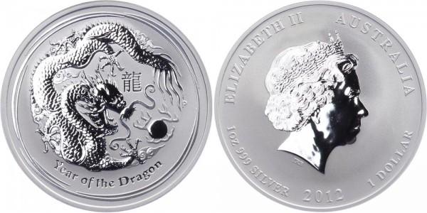 Australien 1 Dollar 2012 - Jahr des Drachen
