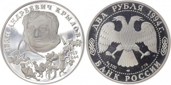 Russland 2 Rubel 1994 - I.A. Krylov