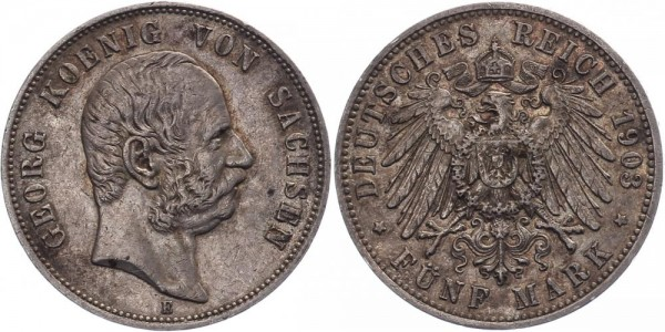 Sachsen 5 Mark 1903 - Georg