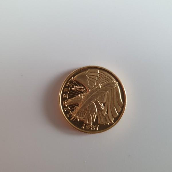 USA 5 Dollar 1987 200. Jahrestag Verfassung der Vereinigten Staaten 1/4 Oz. PP