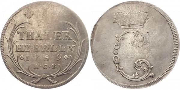 Braunschweig Leichter Thaler 1759 - Karl I.