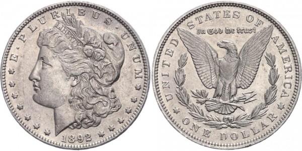 USA Morgan Dollar 1892 Philadelphia
