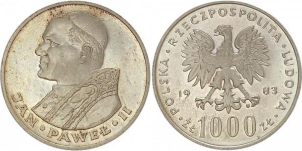 Polen 1000 Zloty 1983 - Jan Pawel II.