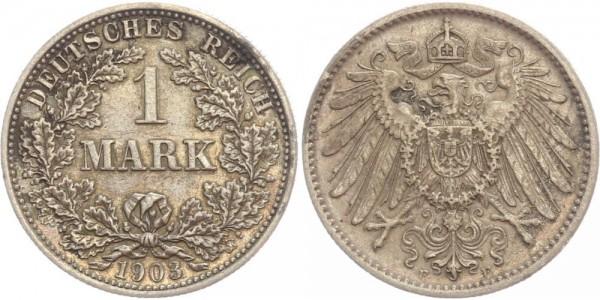 Deutsches Reich 1 Mark 1903 F Großer Adler