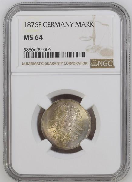 Kaiserreich 1 Mark 1876 F Kleiner Adler