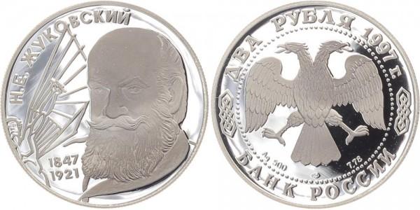 Russland 2 Rubel 1997 - N.E. Zukovskij