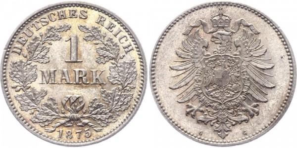 Kaiserreich 1 Mark 1875 G -