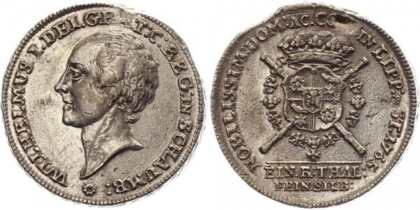 Lippe Taler 1765 - Wilhelm Friedrich Ernst