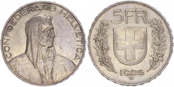 Schweiz 5 Franken 1926 B