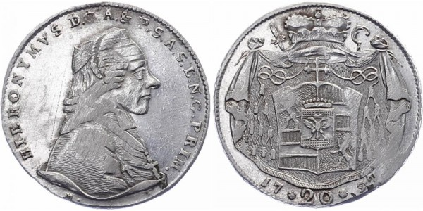 Salzburg 20 Kreuzer 1797 - Hieronymus