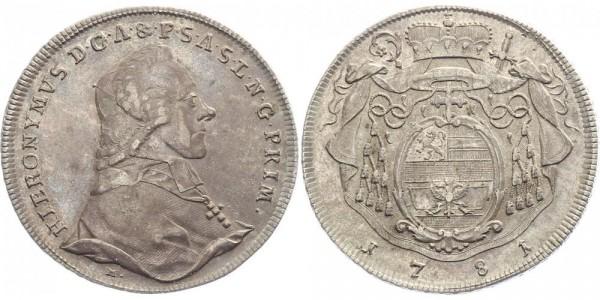 Salzburg 1 Taler 1781 - Hieronymus Graf von Colloredo-Wallsee