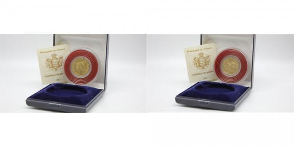 Monaco 10 Francs 1982 Grace Patricia Kelly prägefrisch in org. Kapsel Etui