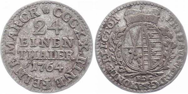Sachsen 1/24 Taler 1764 Dresden Friedrich August III.