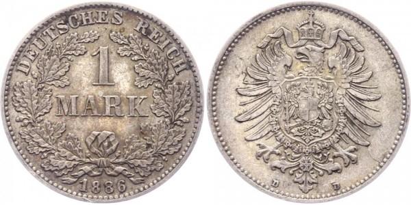 Kaiserreich 1 Mark 1886 D -