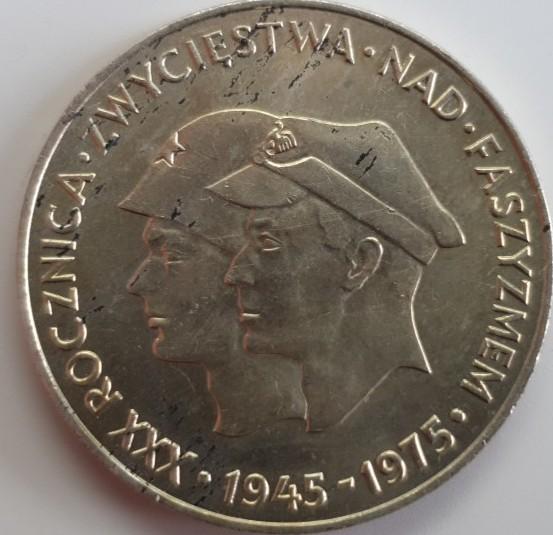 Polen 200 Zloty 1975 Warschau 30. Jahrestag Kriegsende, Sieg über den Faschismus
