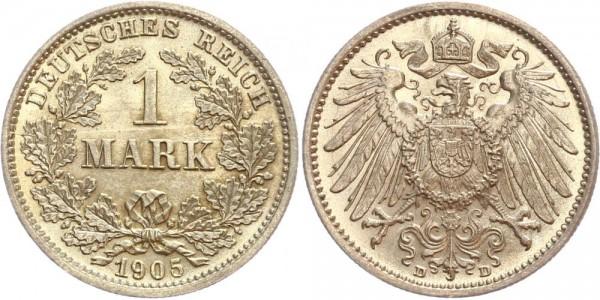 Deutsches Reich 1 Mark 1905 D Großer Adler