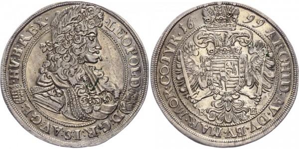 RDR, Habsburg 1/2 Taler 1699 KB (Kremnitz) Leopold I. 1657-1705