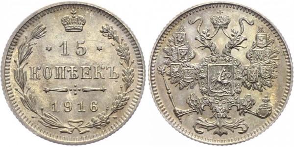 Russland 15 Kopeken 1916 - Nikolaus II. 1894-1917