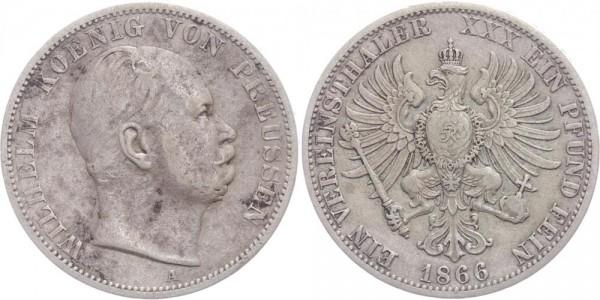 Preussen Taler 1866 A Wilhelm I.