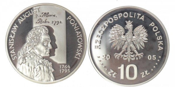 Polen 10 Zloty 2005 - Stanislaw August Poniatowski