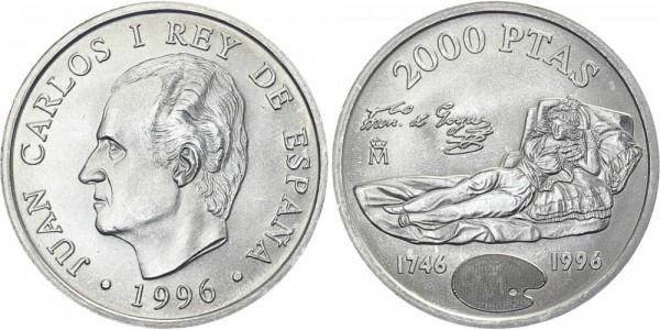 SPANIEN 2000 Pesetas 1996 - liegende Dame