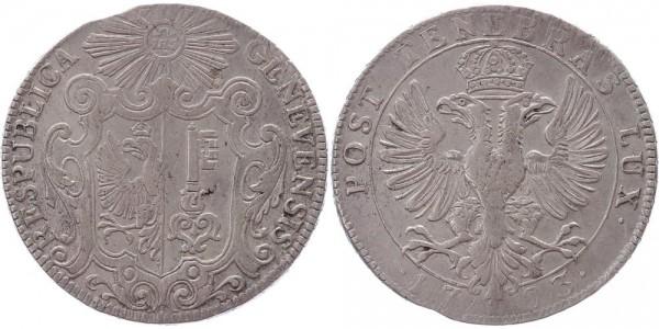 Schweiz Taler 1723 Genf Stadt und Kanton
