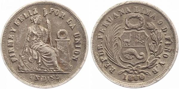 Peru 1 Dinero 1866