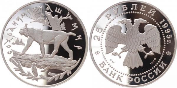 RUSSLAND 25 Rubel 1995 - Luchs