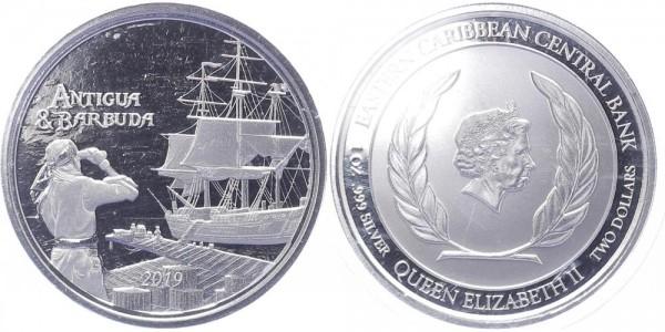 Antigua & Barbuda 2 Dollars 2019 - Rum Runner