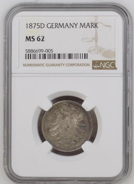 Kaiserreich 1 Mark 1875 D Kleiner Adler