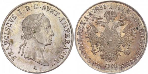 Österreich 20 Kreuzer 1831 A Franz I.