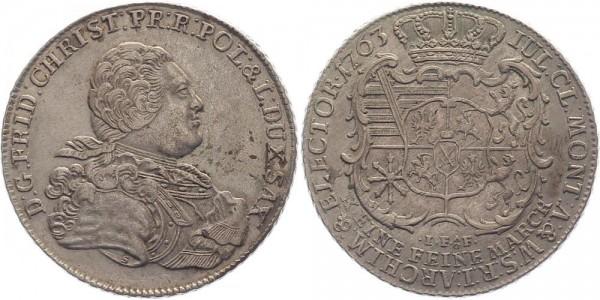 Sachsen Taler 1763 - Friedrich Christian