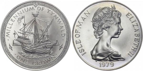 ISLE OF MAN 1 Krone 1979 - 1000 J. Tynwald