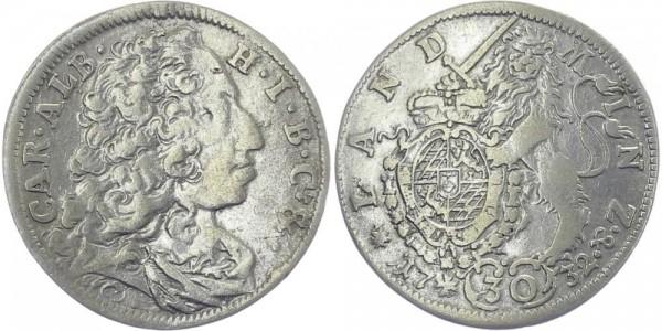 BAYERN 30 Kreuzer 1732 - Kursmünze