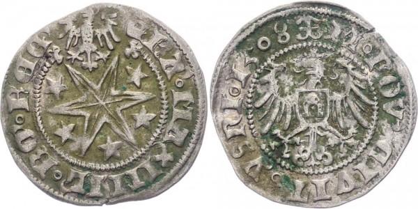 Isny 1 Batzen 1508 - Maximilian I. 1493 - 1519