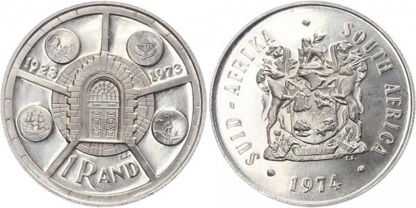 Südafrika 1 Rand 1974 - 50 Jahre Jubiläum Münze