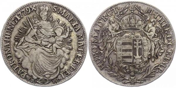 Ungarn 1/2 Madonnentaler 1779 B Kremnitz Maria Theresia ( 1740 - 1780 )