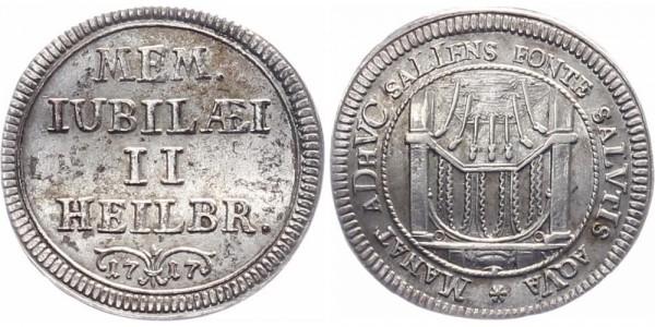 Heilbronn Silberabschlag vom Dukakten 1717 - Siebenröhren-Brunnen