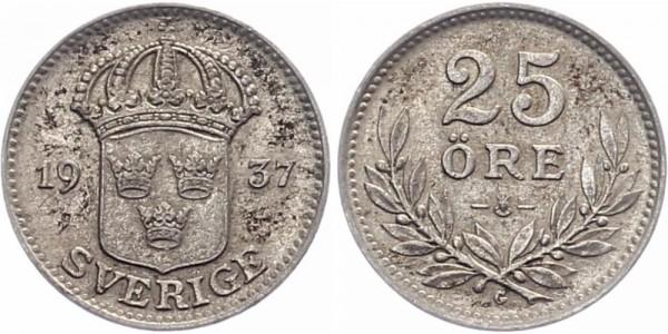 Schweden 25 Öre 1937