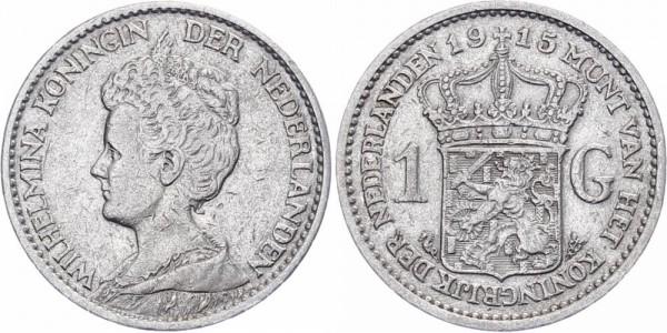 Niederlanden 1 Gulden 1915 - Wilhelmina