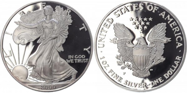 USA 1 Dollar 2000 P Eagle
