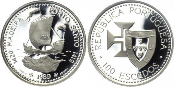 PORTUGAL 100 ESC 1989 - Entdeckung Porto Santos