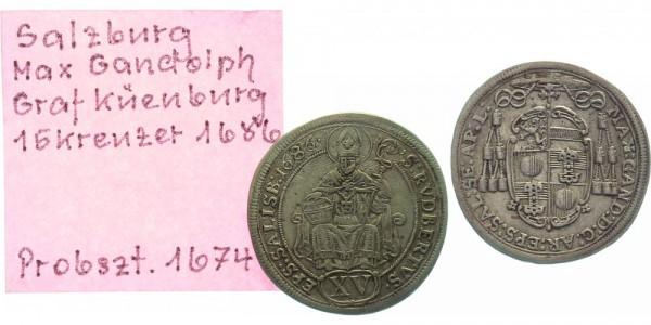 Salzburg 15 Kreuzer 1686 - Max Gandolph von Küenburg