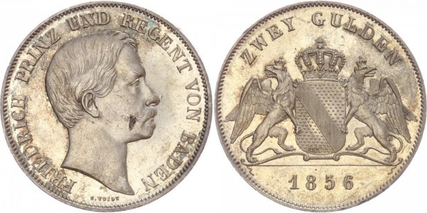 Baden Doppelgulden 1856 - Friedrich