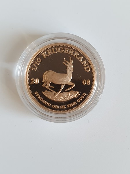 Süd-Afrika 1/10 OZ 2008 Krügerrand 1/10 OZ Gold PP