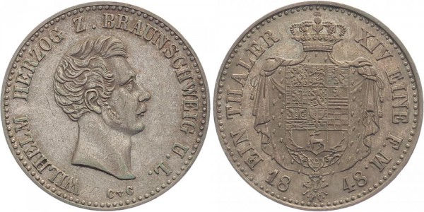 Braunschweig-Lüneburg Taler 1848 - Wilhelm